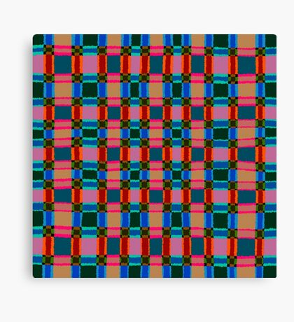 Colourful rough squares pattern Canvas Print