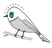 sad bird Photographic Print