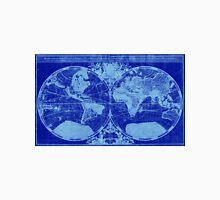 World Map (1691) Blue & Light Blue Unisex T-Shirt