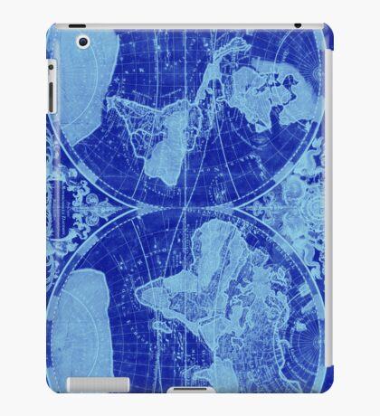 World Map (1691) Blue & Light Blue iPad Case/Skin