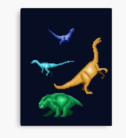 Prehistoric Pixels: Triassic Canvas Print