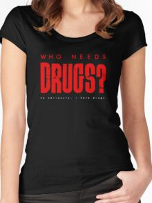drugs Women's Fitted Scoop T-Shirt