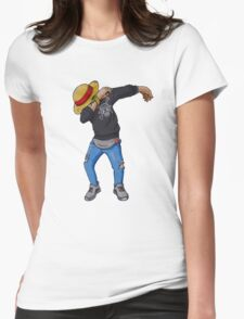 Luffy Dab Womens Fitted T-Shirt