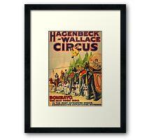 Vintage Circus poster  Framed Print