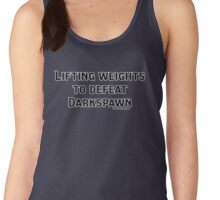 Dragon Age Lifting Weights to Defeat Darkspawn Grey Warden Women's Tank Top