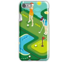 Golf Match Women iPhone Case/Skin