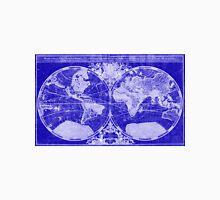 World Map (1691) Blue & White Unisex T-Shirt