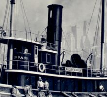 New York Vintage boat picture Sticker