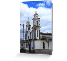 Church Facade Greeting Card