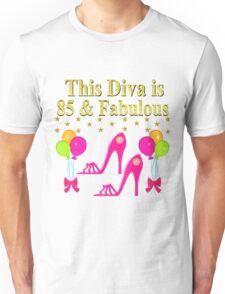 85TH BIRTHDAY SHOE QUEEN DESIGN Unisex T-Shirt