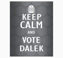 Keep calm and vote Dalek Baby Tee