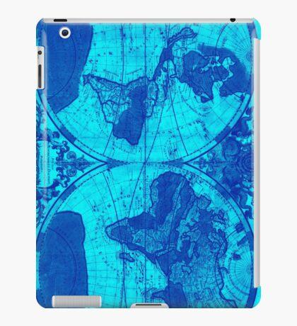 World Map (1691) Light Blue & Blue iPad Case/Skin