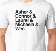 htgawm names- minimalist typograph Unisex T-Shirt