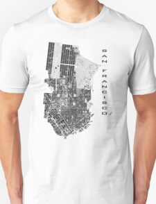 San Francisco map classic Unisex T-Shirt