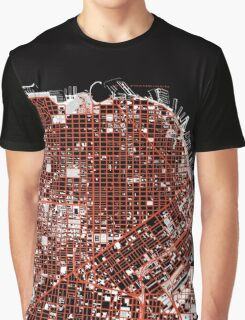 San Francisco map classic Graphic T-Shirt