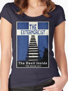 The Devil Inside. The Dalek Cut. Women's Fitted Scoop T-Shirt