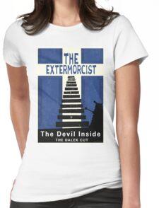 The Devil Inside. The Dalek Cut. Womens Fitted T-Shirt