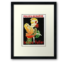 Vintage French Musical poster Framed Print