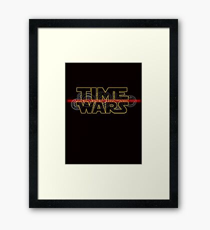 Time Wars  Framed Print