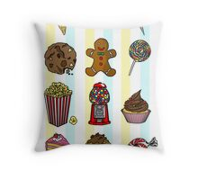 Candy/sweets pattern Throw Pillow