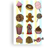 Candy/sweets pattern Canvas Print