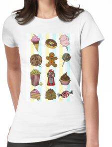 Candy/sweets pattern Womens Fitted T-Shirt