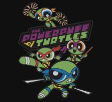 Powerpuff Girls and Teenage Mutant Ninja Turtles One Piece - Long Sleeve