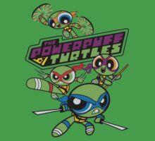 Powerpuff Girls and Teenage Mutant Ninja Turtles One Piece - Short Sleeve