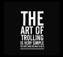 The art of - Trolling Sticker