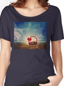 Easter Basket on Grass Women's Relaxed Fit T-Shirt