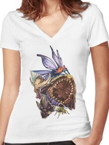 Monster Hunter Monster Mash Design Women's Fitted V-Neck T-Shirt
