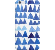 Blue Triangles in Watercolor iPhone Case/Skin