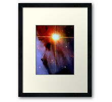 Supernova Abstract Framed Print