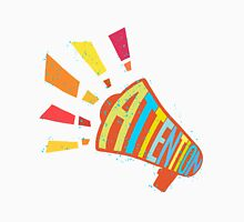 "Loadspeaker with ""Attention"" word colorful illustration Unisex T-Shirt"