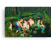 The sailor and the water nymphs Canvas Print