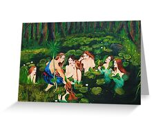The sailor and the water nymphs Greeting Card