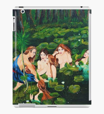 The sailor and the water nymphs iPad Case/Skin