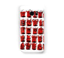 Wee Helmeted Red Folk Samsung Galaxy Case/Skin