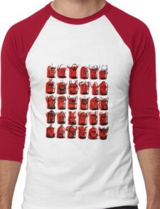 Wee Helmeted Red Folk Men's Baseball ¾ T-Shirt