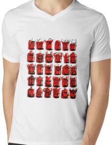 Wee Helmeted Red Folk Mens V-Neck T-Shirt