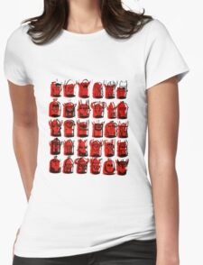 Wee Helmeted Red Folk Womens Fitted T-Shirt