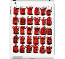 Wee Helmeted Red Folk iPad Case/Skin