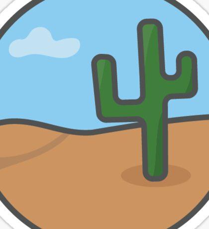 Desert Scene Sticker