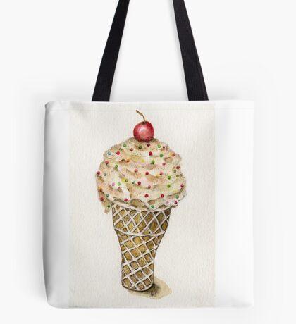 Ice Cream No.2 - Watercolor Artist Print Tote Bag