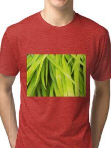 Summer Green Leaves Tri-blend T-Shirt