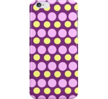 Purple Polka Dots With POwerful Yellow iPhone Case/Skin