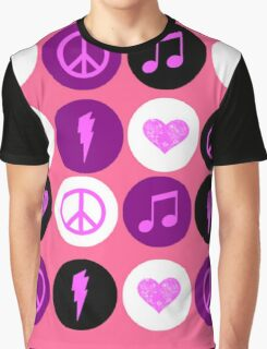 Music Polka Dots For Music Lovers Graphic T-Shirt