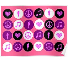 Music Polka Dots For Music Lovers Poster