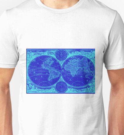 World Map (1730) Blue & Light Blue Unisex T-Shirt