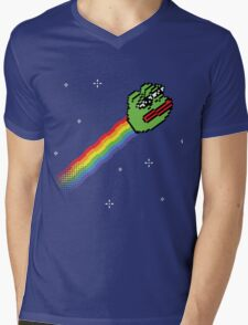 Nyan Pepe Meme Mash Up Mens V-Neck T-Shirt